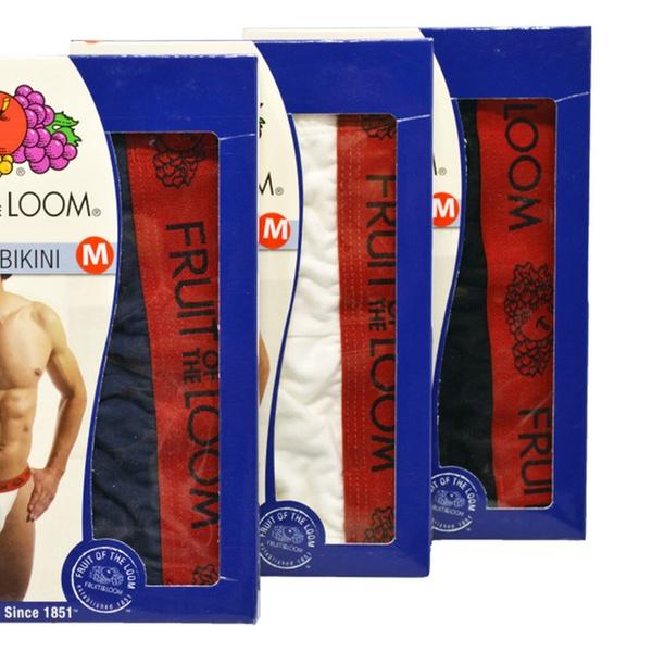 6b31c3b12531 3 Fruit Of The Loom Men's String Bikini 100% Combed Cotton | Groupon