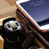 Sleek Fast Charging Dual-USB Car Charger With LED display