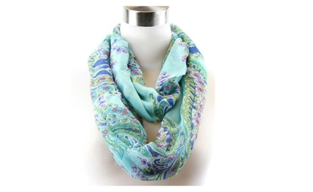 Paisley Infinity Scarf