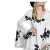 Women's Fall Loose Floral Print V Neck Long Sleeves Casual Dresses
