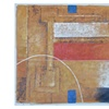 """Oil Painting on Canvas 36"""" x 48"""" Abstract Overlapped Squares & Arch"""