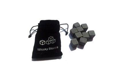 9Pc. Whiskey Stones Set W/ Carry Pouch