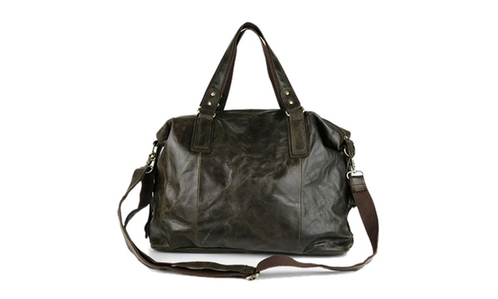 Men's Fashion Leather Tote Shoulder Bag - As Picture / One Size