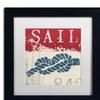 Wellington Studio 'Nautical III Red' Matted Framed Art