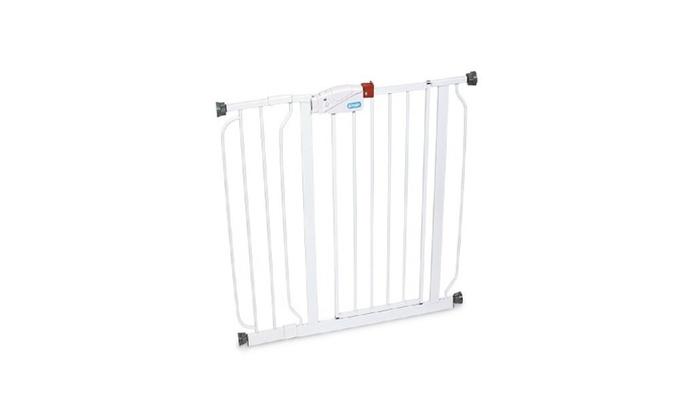 """White Fits Spaces between 29/"""" and 39/"""" Wide Regalo Easy Step Walk Thru Gate"""