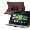 Insten Brown 360 Rotate Leather Case For Kindle Fire HD 7 2nd Gen 2013