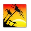 Roderick Stevens Palm Tree Sunrise Canvas Print