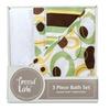 Trend Lab Giggles 3 Piece Bath Bundle Box Set, Sage