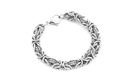 Stainless Steel Byzantine Bracelet (8 inches)