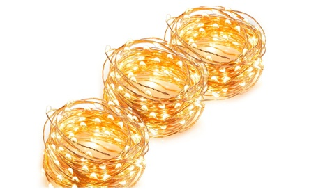30/50/100 LED Battery Powered Copper Wire Christmas Light W/ Remote 32a198c9-4169-4252-97be-ee93e53929f9