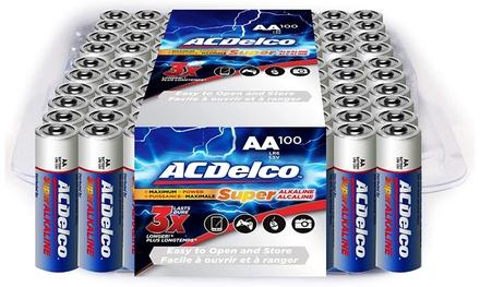 ACDelco Maximum Power Alkaline AA or AAA Alkaline Batteries (100-Pack)