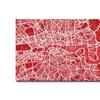 Michael Tompsett London Street Map IV Canvas Print