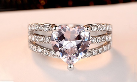 Leo Rosi AAA CZ Heart Ring Valentines Day's Gift