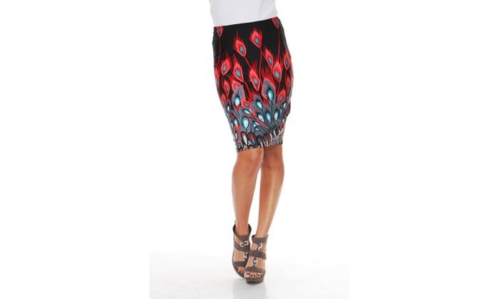 Red Peacock Pretty & Proper Pencil Skirt