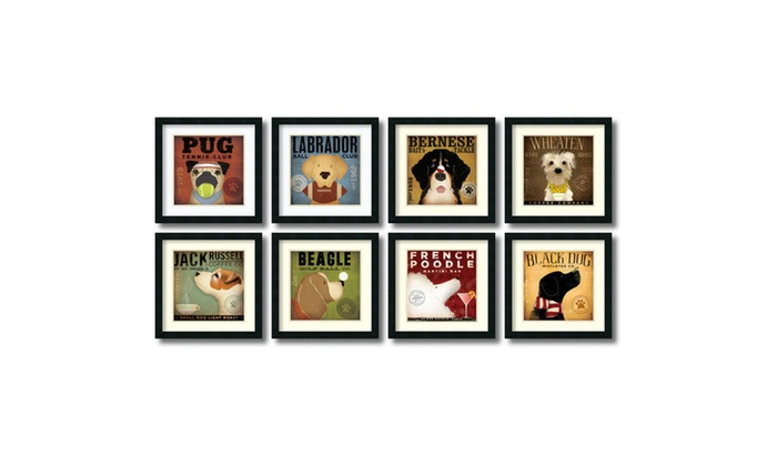 Fowler Stephen Fowler Dogs Set Of 8 Framed Art Print