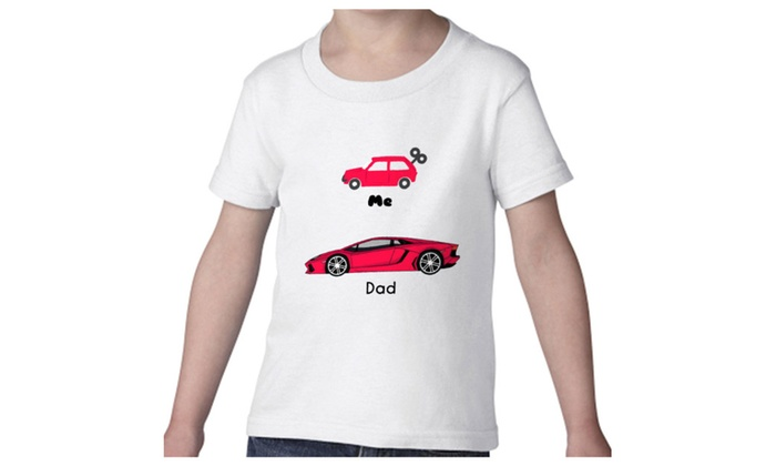 Tee Bangers LLC: Tee Bangers Father And Son Cars Funny Kid's White T-shirt Sizes 2T-7