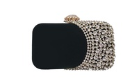 Rhinestone Evening Bag Bridal Clutch Purse Wedding Party Cocktail Handbag (STYLE SOLID) photo