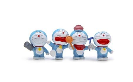 4pcs/set Doraemon PVC Action Figure Jingle Cat Collection Children Toy 3a8fdff8-2255-4317-8147-a94f5711e226