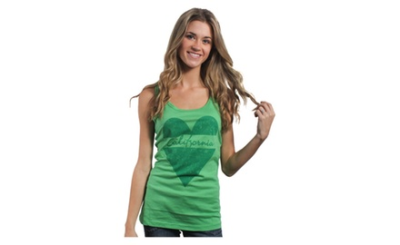 California Distress Tank Top
