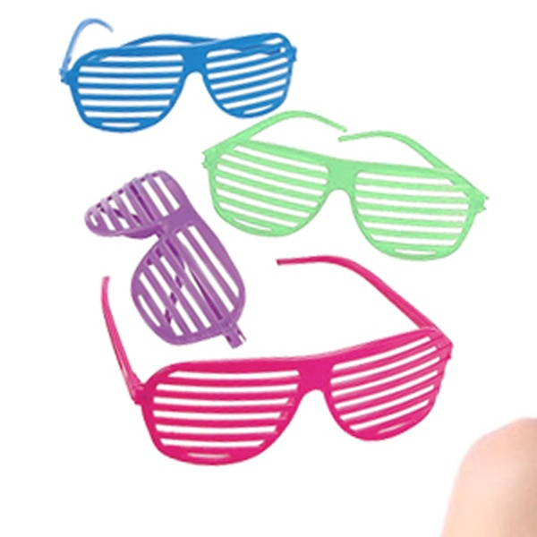 a1d8c3d1fc9 Novelty Place 80 s Party Shutter Glasses Slotted Shading Toy Sunglasses