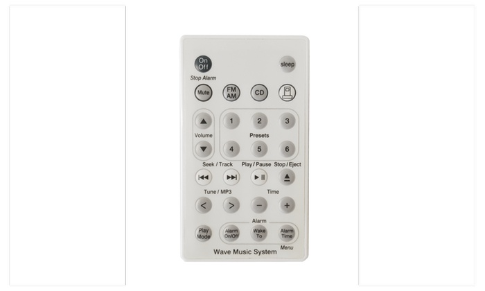 bose remote control. bose replacement remote for awrcc1 2 wave radio/cd system (white) control