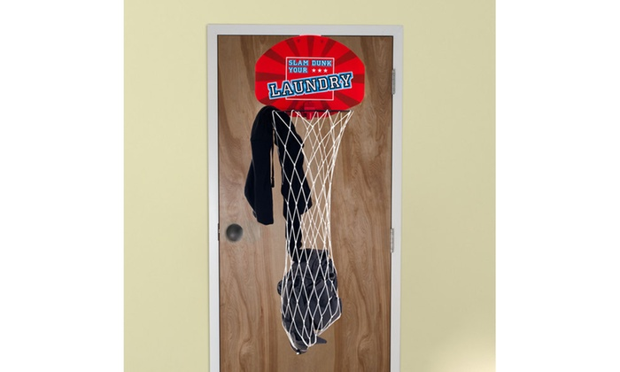 Over The Door Dunk Your Laundry Hamper Basketball Groupon