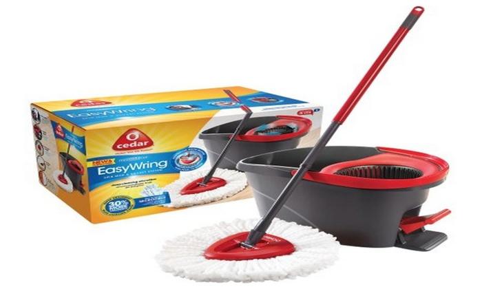 O Cedar Easywring Spin Mop Bucket System Groupon