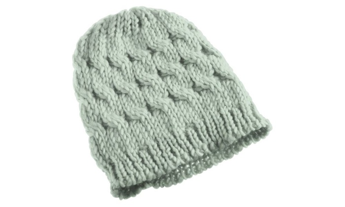 c83d42b0af1 ... Zodaca Gray Lady Women Knit Winter Warm Crochet Hat Braided Beanie Cap  ...