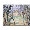 Paul Cezanne Trees and Houses Canvas Print