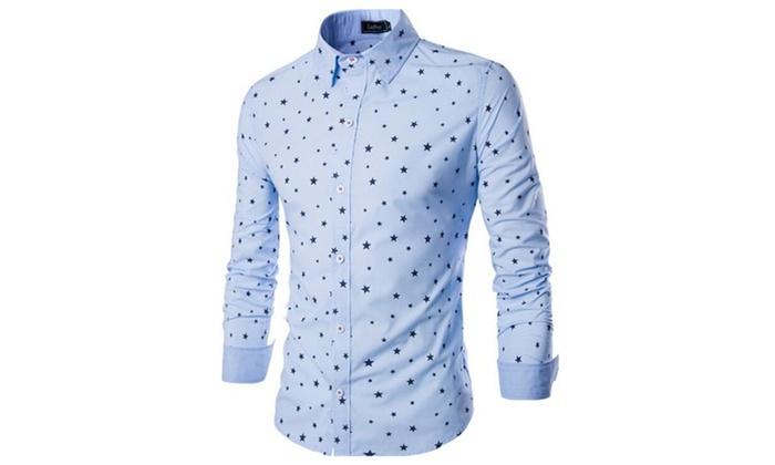 Men's Fashion Slim Fit Long Sleeves Casual Shirts