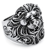 Men's Lion Ring with SWAROVSKI ELEMENTS in Stainless Steel