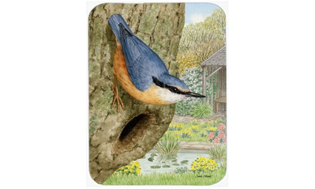 Carolines Treasures ASA2108LCB Red-Breasted Nuthatch Glass Cutting Board Large (Goods For The Home Kitchen & Dining Cutlery) photo