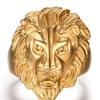 Ferocious lion head 316L steel men's ring