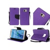 Insten Leather Fabric Case W/stand For Samsung Galaxy S7 Purple/black