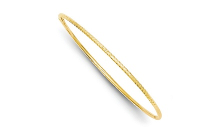 IceCarats Designer Jewelry 14k 2mm Diamond-cut Tube Slip-on Bangle