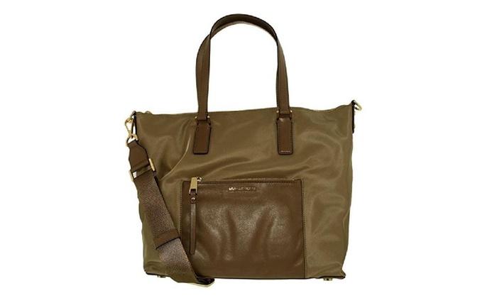 422f2943d802 Michael Michael Kors Ariana Large Dusk Nylon Tote Bag | Groupon