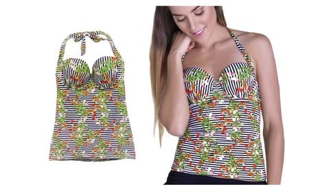 Women's Swimwear Body Molding Tankini Shape Waist Technology CHA22605