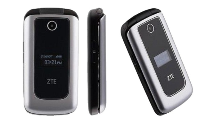 ZTE Cymbal 4g LTE Prepaid Flip Phone Verizon Wireless (used