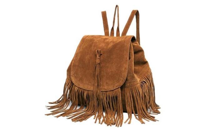 Women's Steet Style Tassels Shoulder Bag