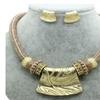 New Gold Vintage Novel Designer Rope Pendant Jewelry Set