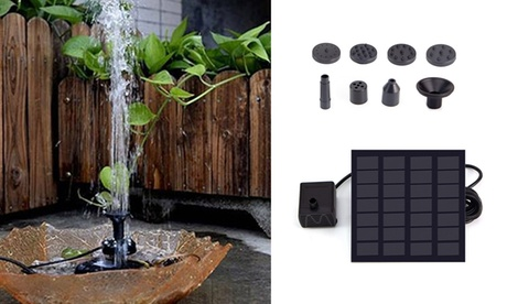 Solar Power Fountain Submersible Water Pump With Filter Panel Pond Pool