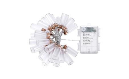 DecorNova Warm White LED Glass Jar String Lights with 3AA Battery Box 238a4025-8bb5-40f0-aa92-1f69d47cb3a1