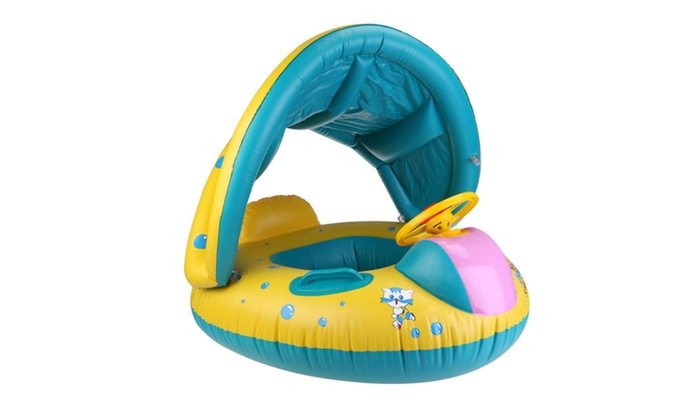 sc 1 st  Groupon & Inflatable Baby Pool Float w/ Canopy | Groupon