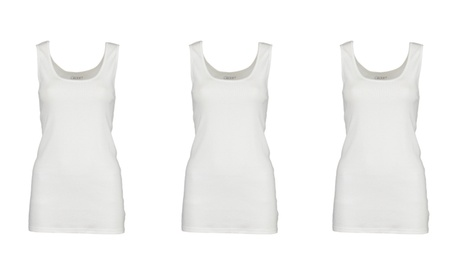 3 Pack Gildan Women's Ribbed Cotton Tank Top be72c326-b52d-455b-ad7b-8fde9a7c0378