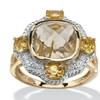 .76 TCW Golden Rutile & Citrine Ring