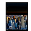 Philippe Hugonnard Window View NYC Sunset 5 Canvas Print 24 x 32