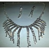 Fashion Jewellery Sets : 18k White-Gold Plated Earrings + Necklace