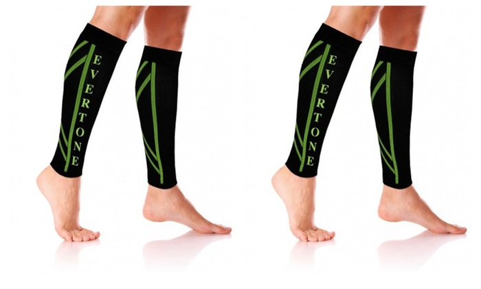 2 Evertone Fitness Compression Calf Sleeves Leg Support Socks