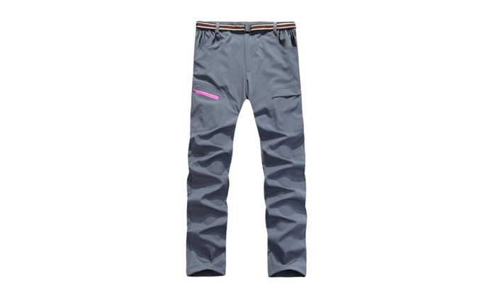 Women's ZipUpwithButtonClosure Mid Rise Trousers