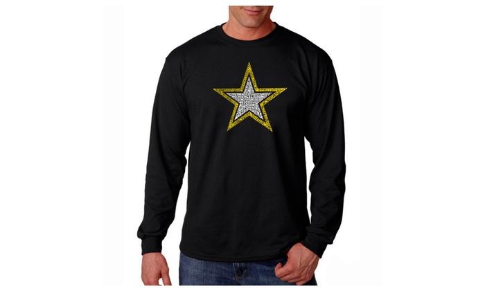 Men's Long Sleeve T-shirt - LYRICS TO THE ARMY SONG